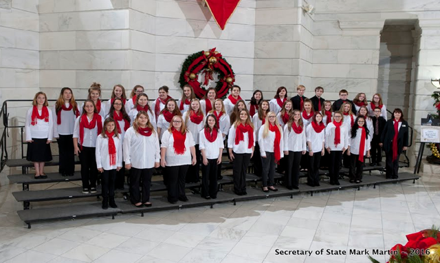 Cutter Morning Star Choir singing at the Capitol