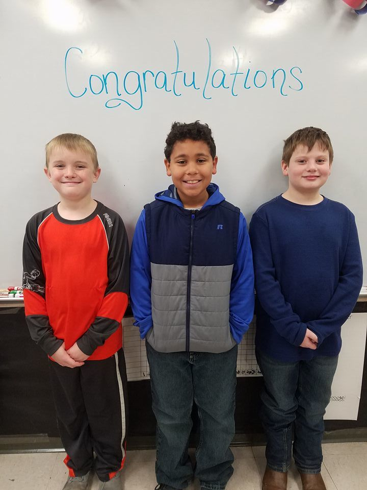 Congratulations to our 4th Grade Geography Bee winners, Carson Page and Jackson Duncan, and our alternate, Andrew Maples!