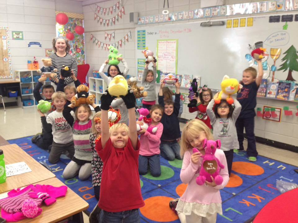 A former CMS Elementary student (Cash Pierce) came with a giving spirit and let students get a stuffed animal for Christmas! Thanks Santa Cash!