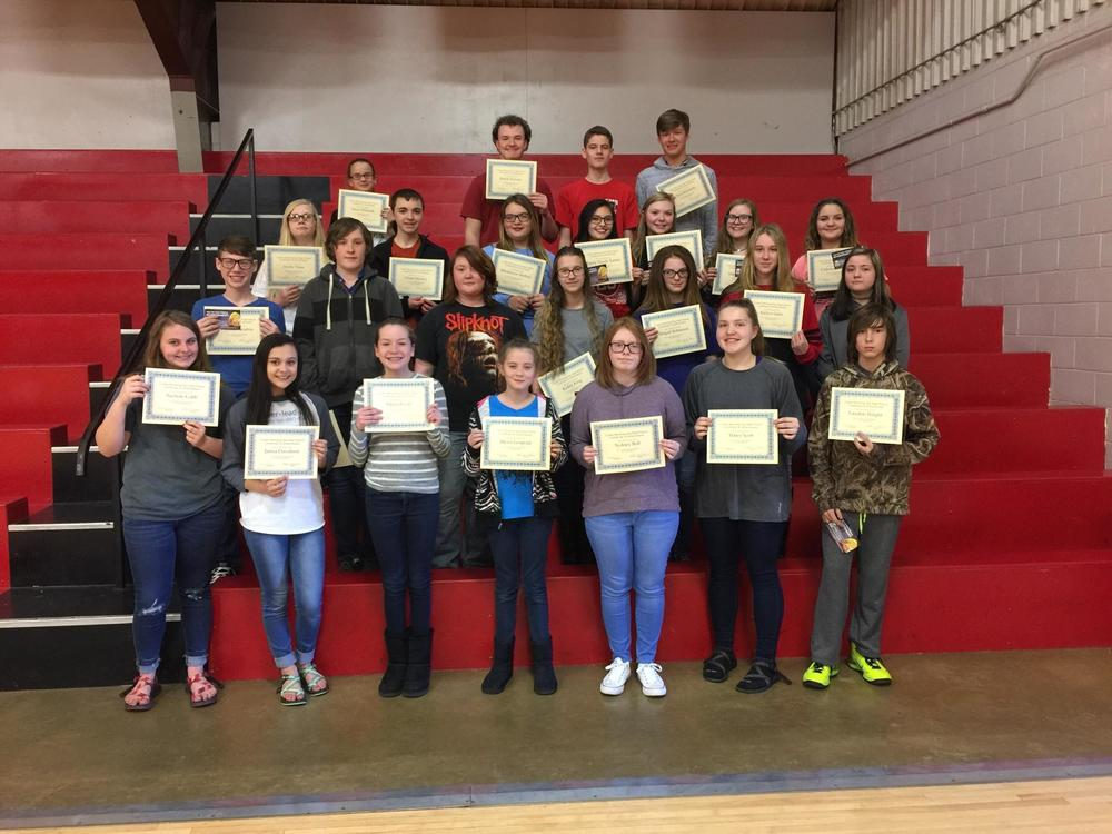 7th - 9th Grade All A and B Honor Roll