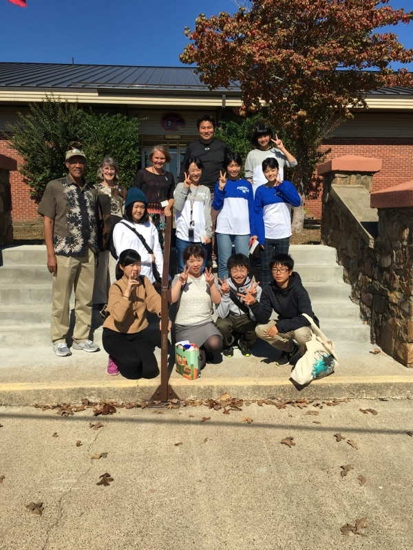 Hanamaki student delegation visited yesterday.