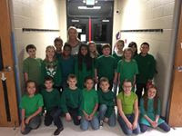 3rd grade ready for the Christmas Program last night.